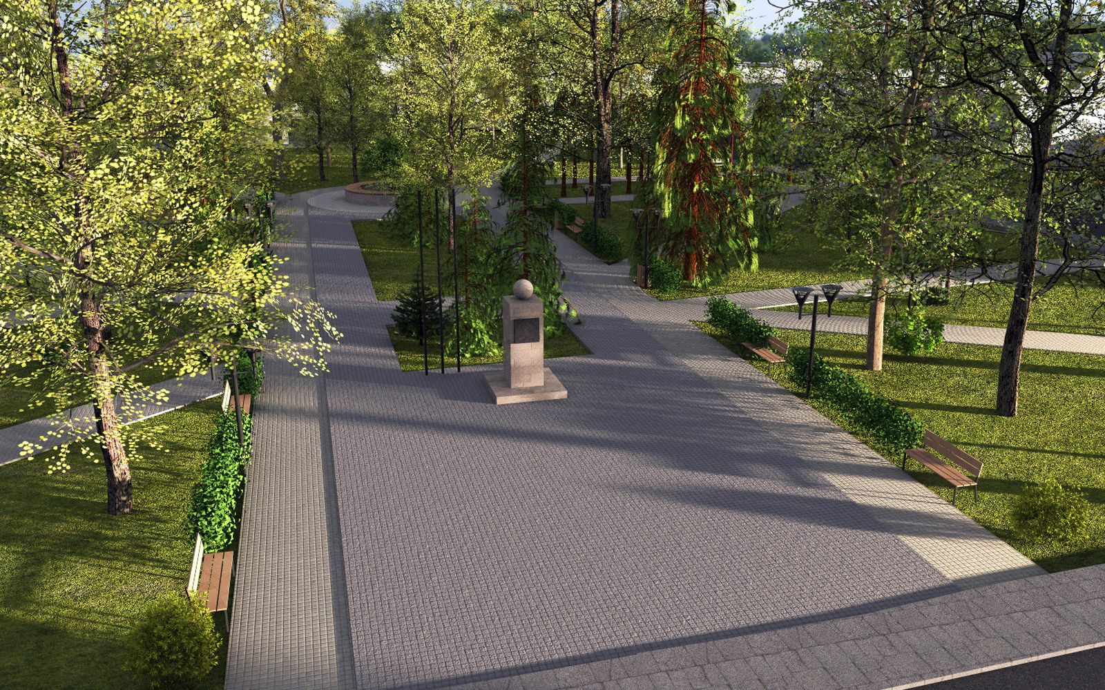 Wizualizacja przebudowy parku