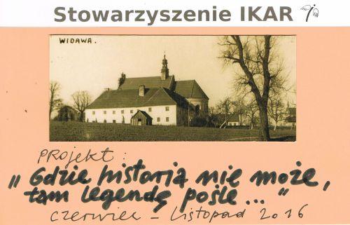 "Plakat projektu ""Gdzie historia nie może, tam legendę pośle..."""