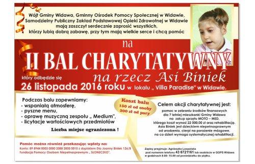 Zaproszenie na II Widawski Bal Charytatywny