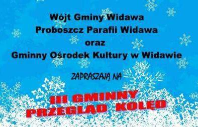 Plakat III Widawskiego Przeglądu Kolęd
