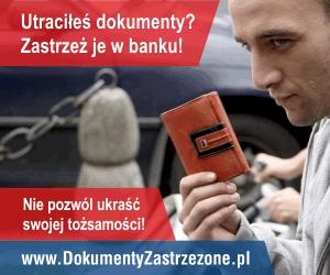 Utraciłeś dokumenty? Nie ryzykuj! Zastrzeż je wbanku!